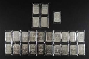 (25) Fine Silver 1 Troy Ounce Bars.