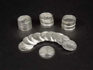 (40) American Eagle Silver Dollars.