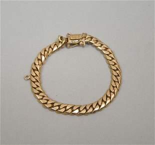18K Rose Gold Cuban Link Bracelet.