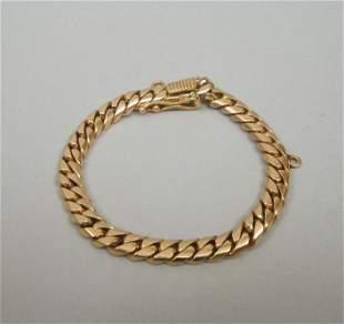 Gold Cuban Link Bracelet. (Tests 18K).