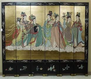 Chinese Contemporary 6-Panel Coromandel Screen.