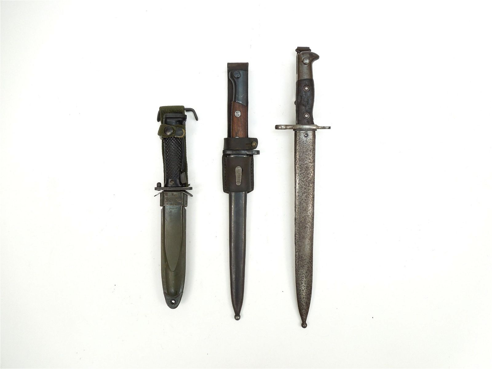 (3) Military Bayonets and Scabbards.