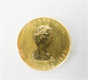 1983 Canada 50 Dollar Maple Leaf Gold Coin.