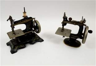 (2) Miniature Toy Sewing Machines.