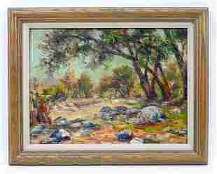 John A. Dominique Oil on Board, Landscape.