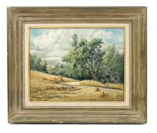 Marguerite Ciprico Oil on Canvas, California Landscape.