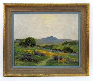 R. Valencia Oil on Canvas, Mt. Tamalpais.