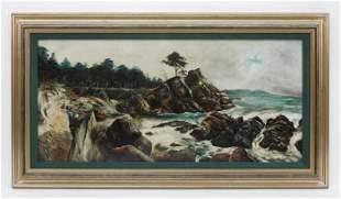C. Faulkner Oil on Board, Monterey Lone Pine.