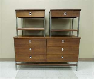 Mid 20th C. Vista Furniture Dresser & Nightstands.