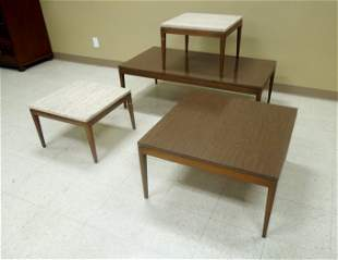 (4) Mid 20th C. Modern Tables.