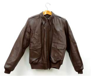 Men's Leather U.S. Army Style Jacket.