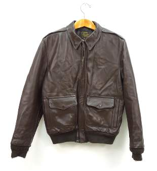 Men's Leather Military Style Jacket.