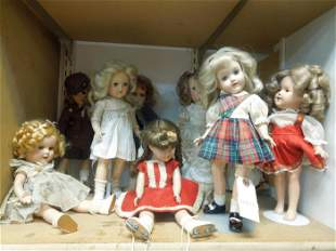 Group of Shirley Temple Ideal & Other Dolls.