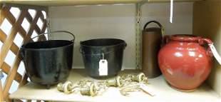 Metalware, Stoneware & Fireplace Pots.