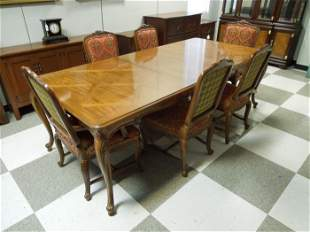 """Heritage """"Avallon"""" Provincial Dining Table & 8 Chairs."""