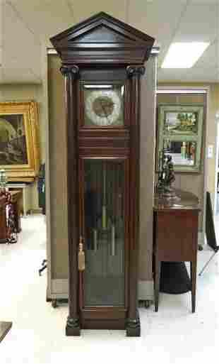 American Mahogany Tall Case Clock, Circa 1910.