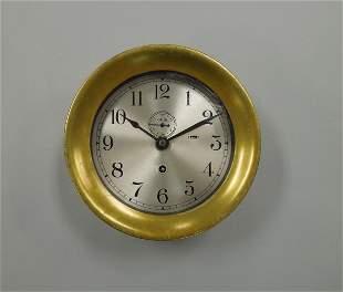 Vintage Chelsea Ship's Bell Clock.