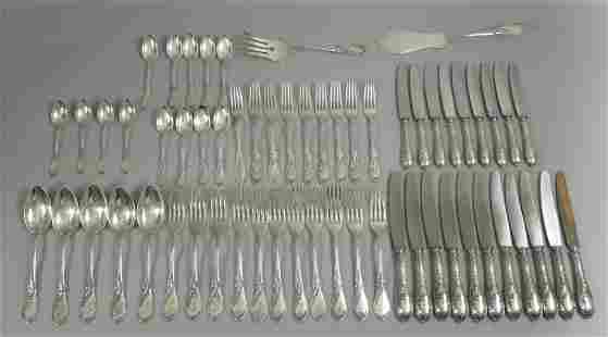 Lutz & Weiss German 800 Silver Flatware Service, 54