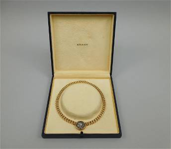 Bulgari 18K Gold, Coin Necklace.