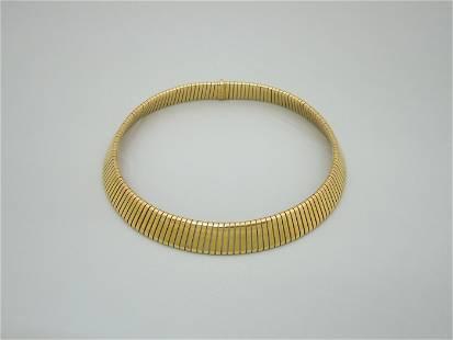 Bulgari 18K Gold Tubogas Necklace.