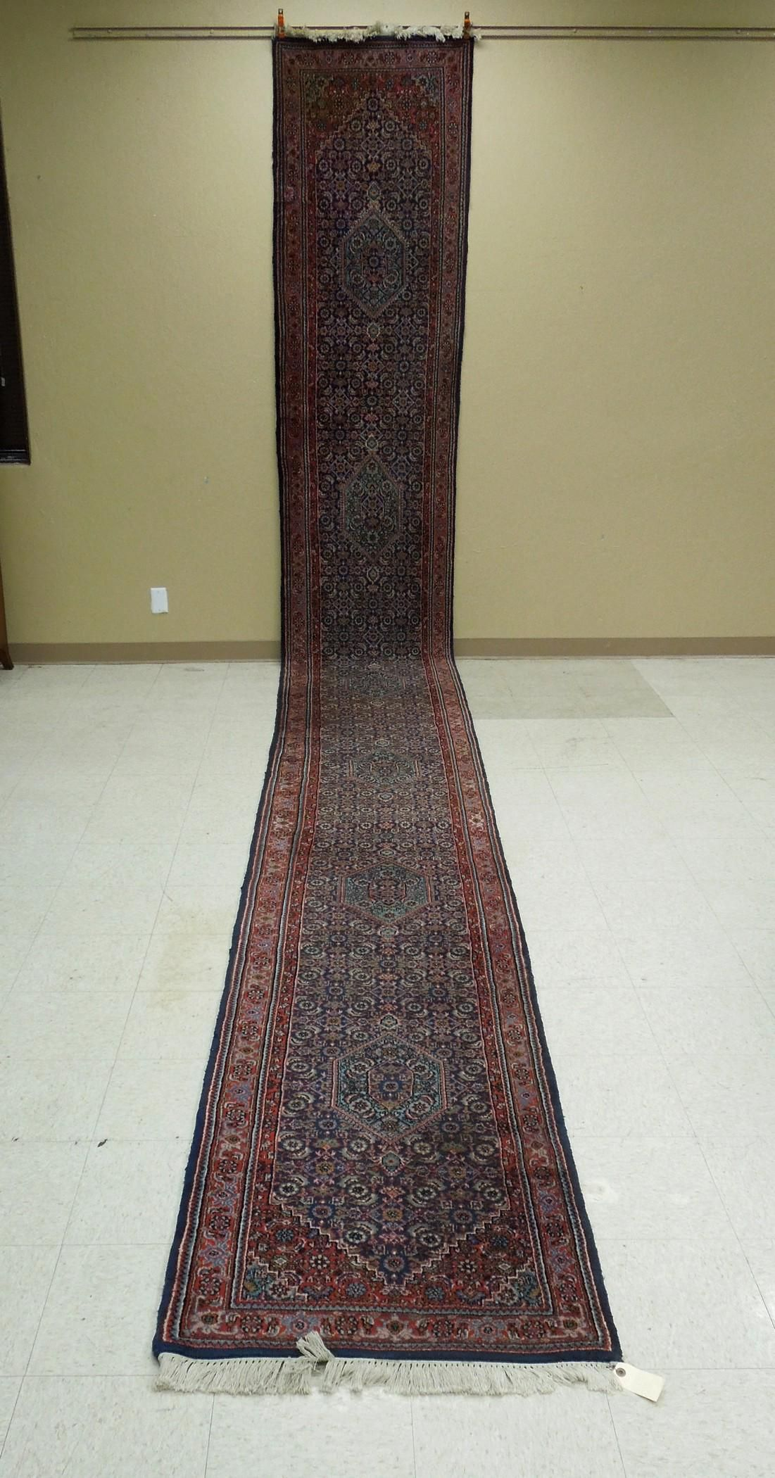 Hand Knotted Oriental Wool Runner.