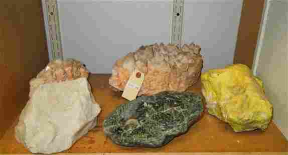 (5) Large Mineral Rock Specimens.