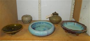 (5) Oriental and Other Pottery Dishes.