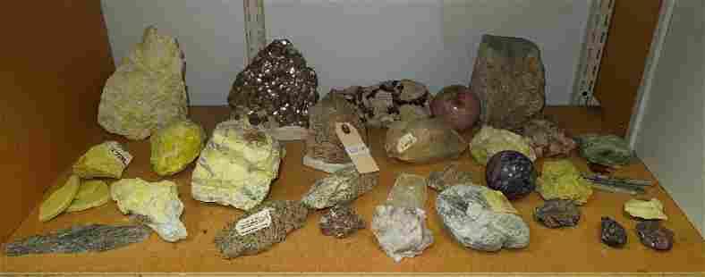 Group of Mineral Rock Specimens.