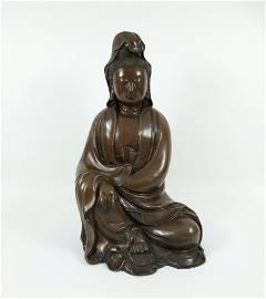 Chinese Bronze Deity Sculpture.