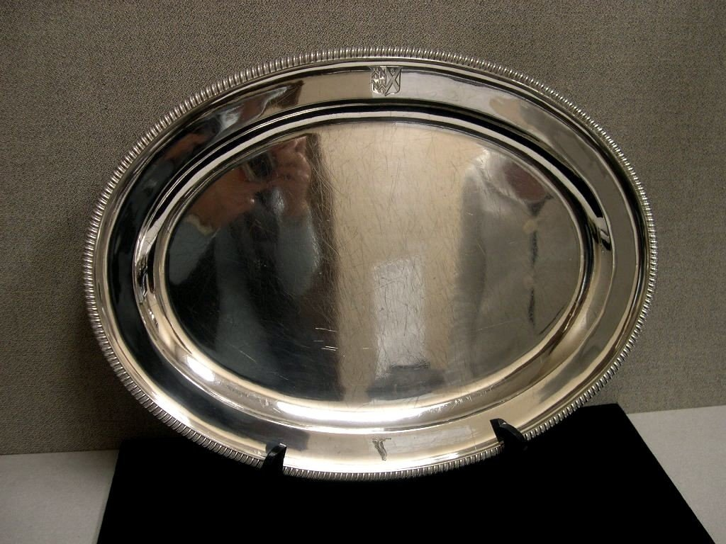 6: Early 19thCentury English Silver Serving Tray