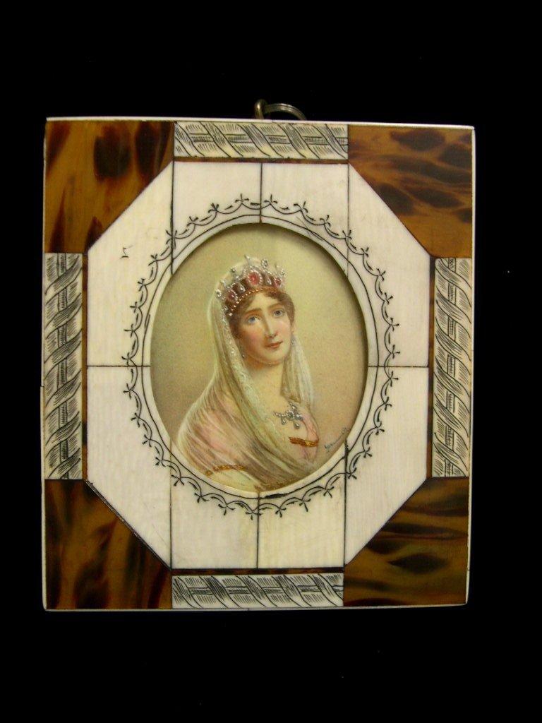 11: Hand-painted miniature portrait on ivory