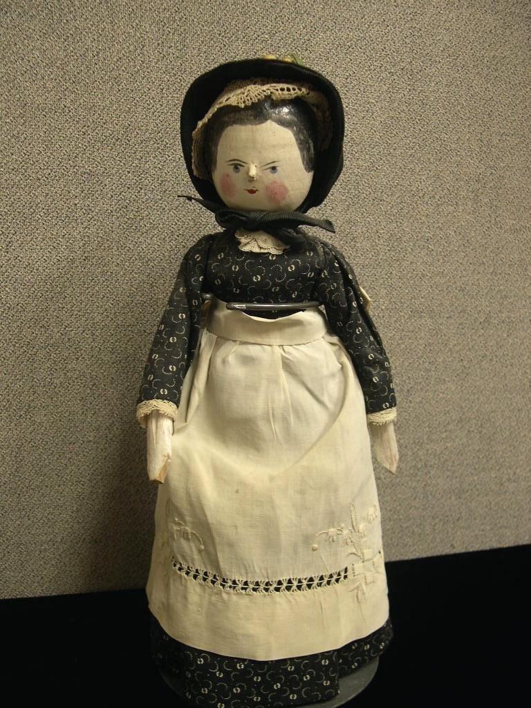 22: Circa 1890 Grodnertal all-wooden doll
