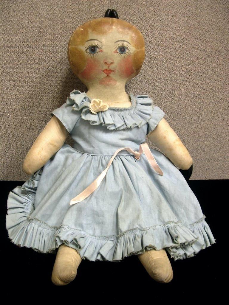 23: Circa 1930s American cloth doll