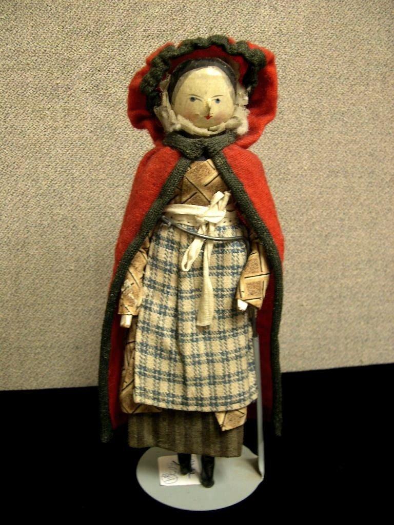 24: Circa 1890 Grodnertal all-wooden doll