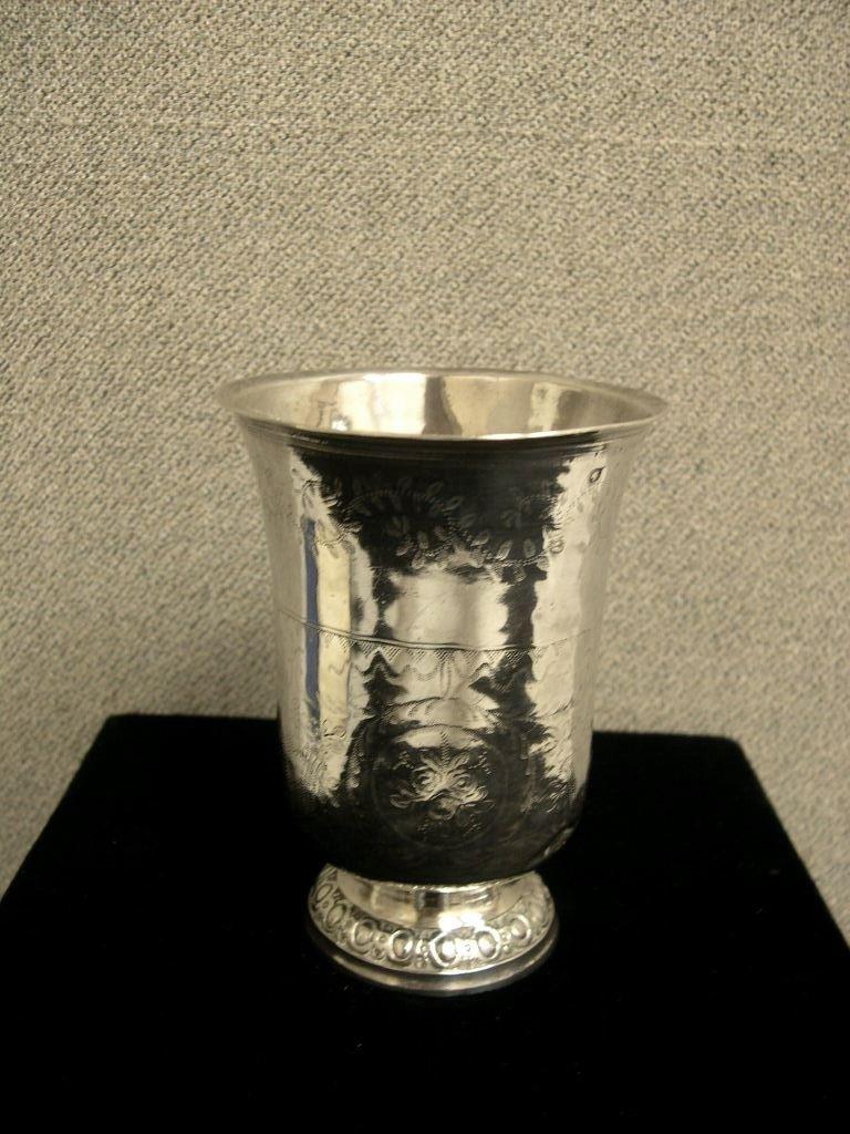 5: French silver beaker, inverted bell-shape