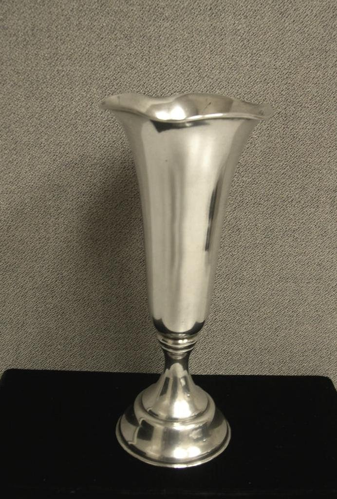 6: Sterling Silver Trumpet form footed Vase