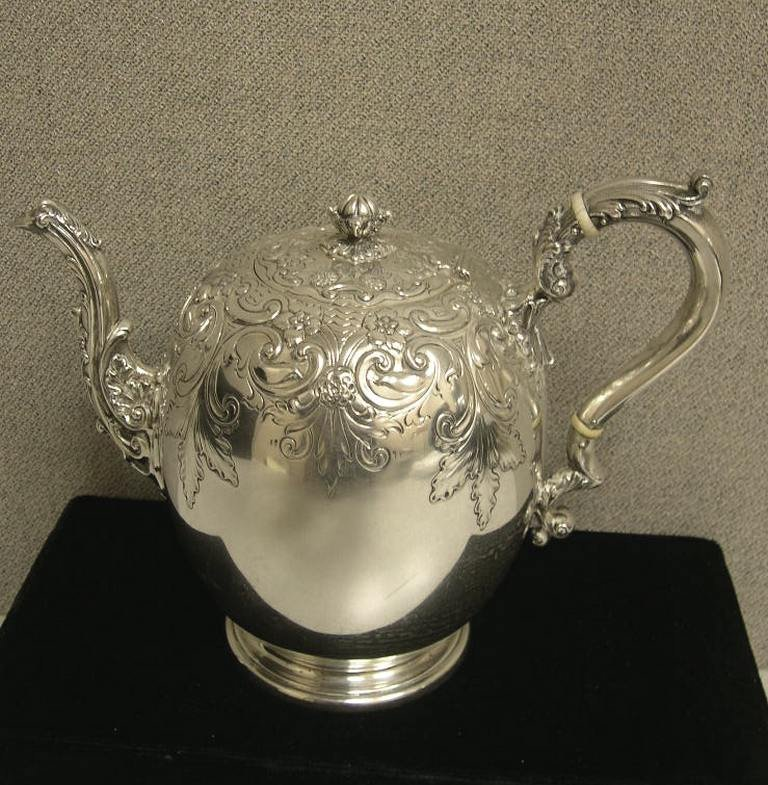7: Sterling Silver footed Coffee Pot