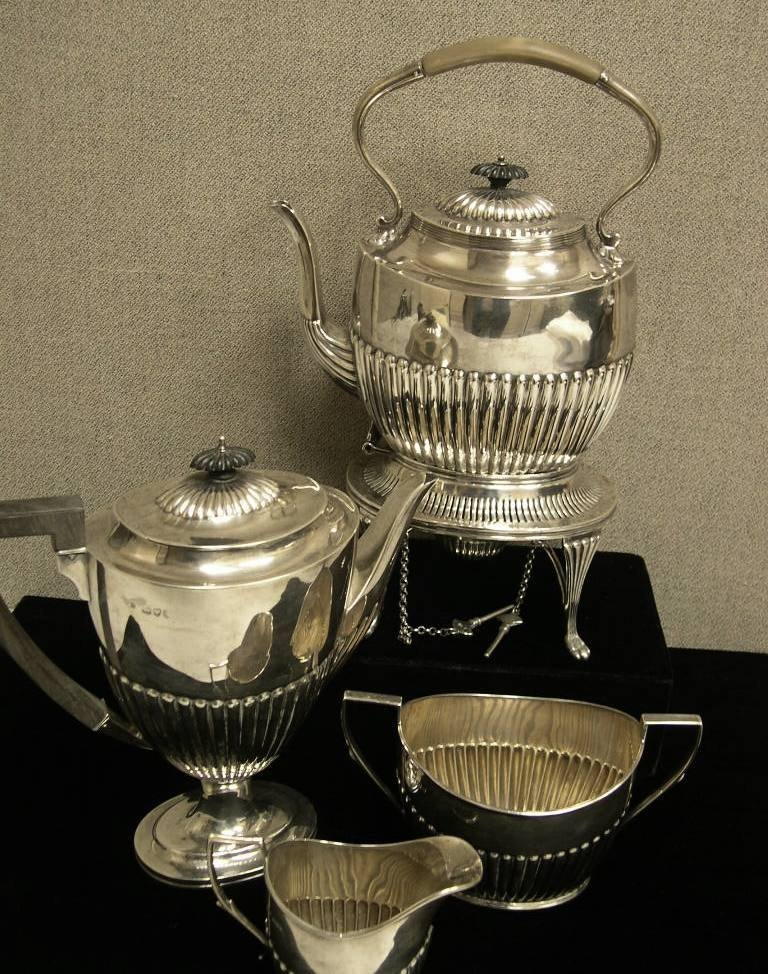 20: George V Sterling Silver 5-Piece Tea and Coffee Ser