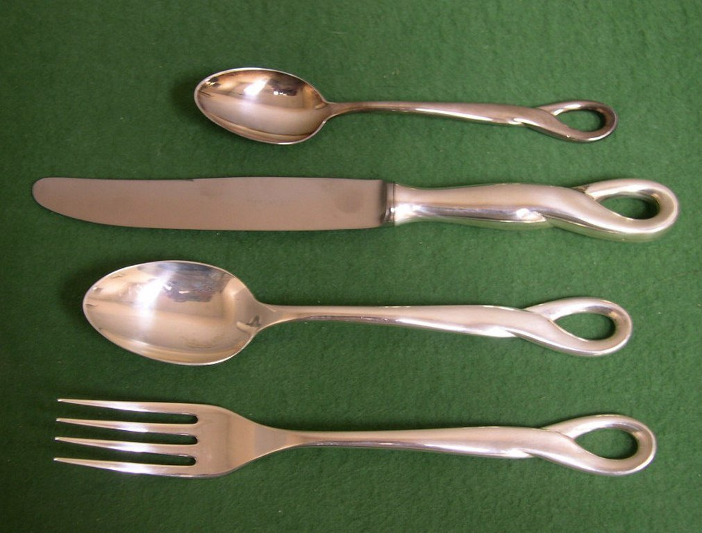 24: Tiffany & Co. sterling silver 4-piece place setting