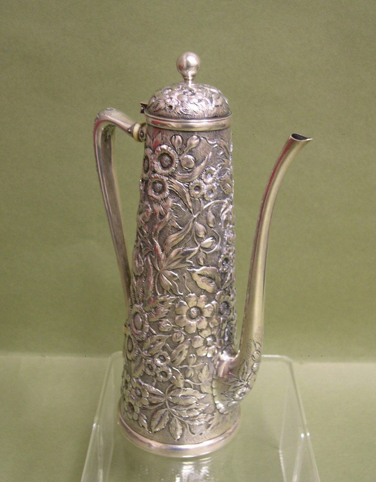 3: Whiting Sterling Silver Coffee Pot