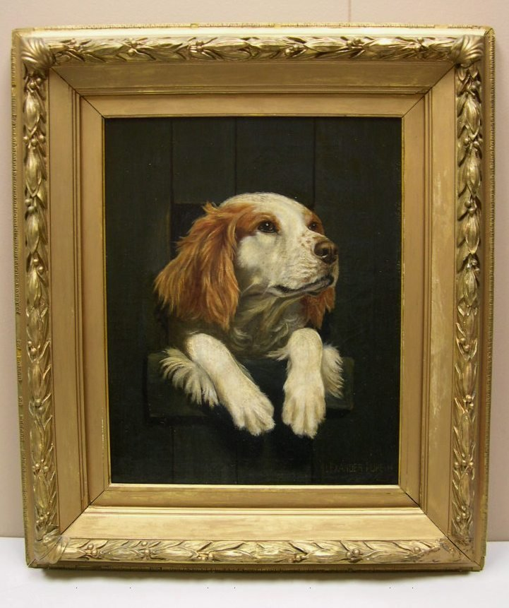 84: Oil on Canvas by Alexander Pope  - English Spaniel