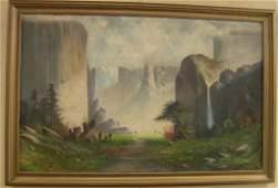 101 Oil Painting Joseph John Englehart Yosemite Valley