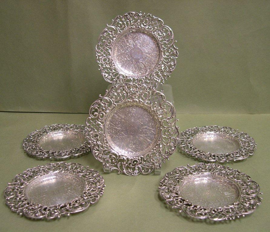 6:  Six Bigelow, Kennard & Co. Sterling Silver Plates