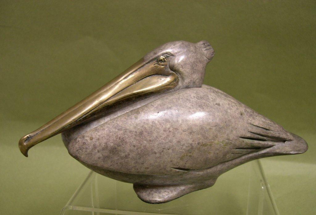7: Brian Arthur Bronze Nesting Pelican #86/100