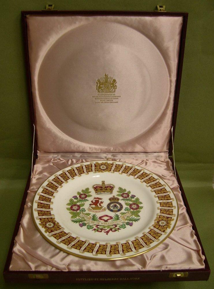 22: Spode Commemorative Plate Duke of Wellington Regt.