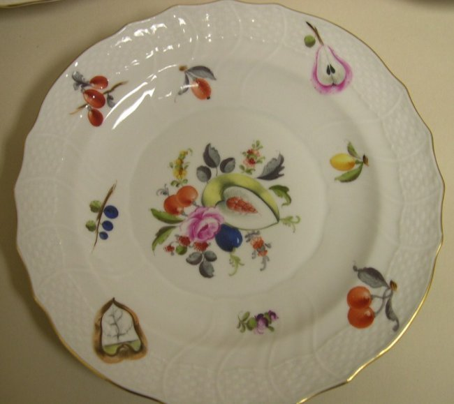 Herend Hungary Hand Painted Plates