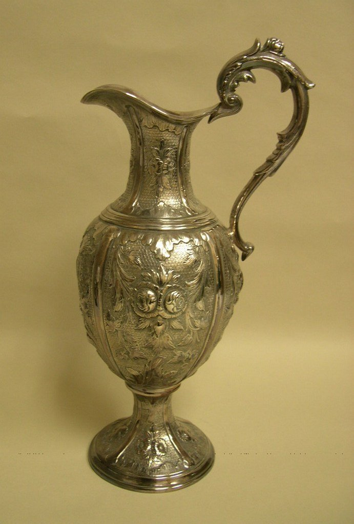 Silverplate Ewer form Pitcher stamped G.Meyer Philad