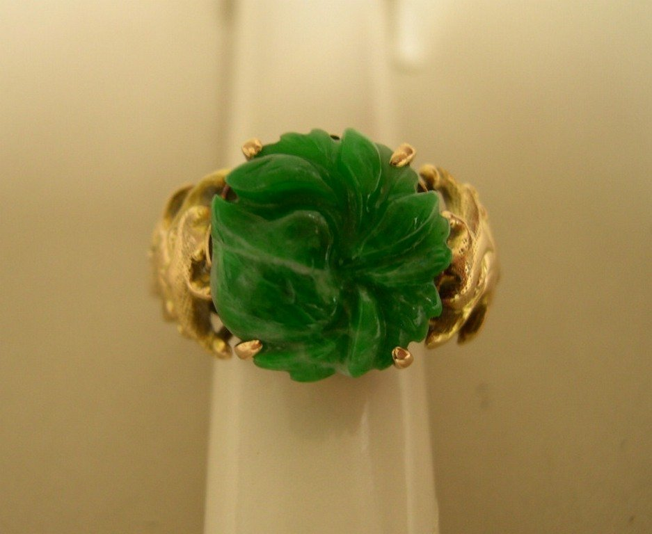 Lady's Gold and Jade Ring