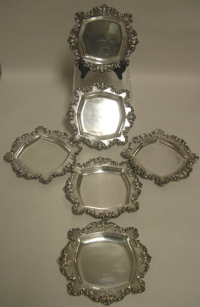 Simpson, Hall, Miller Sterling Silver Plates (6)