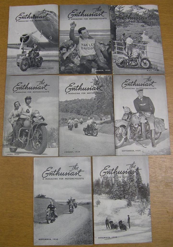 8 Issues The Enthusiast Magazine for Motorcyclists 1939